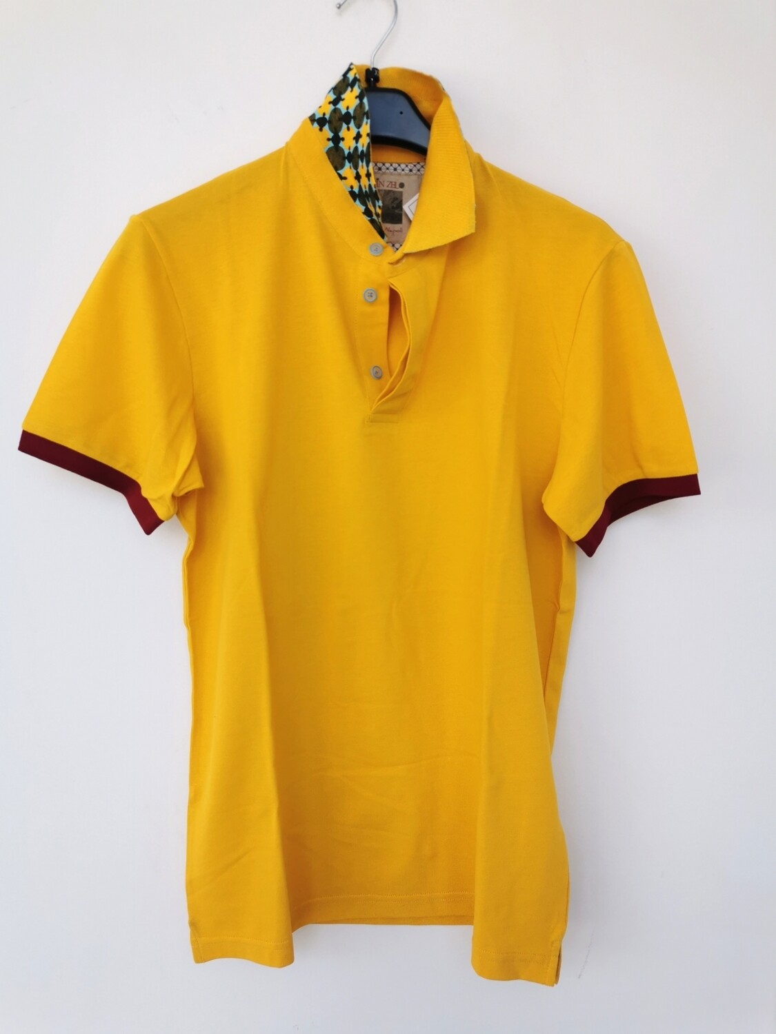 Slim fit piquet polo