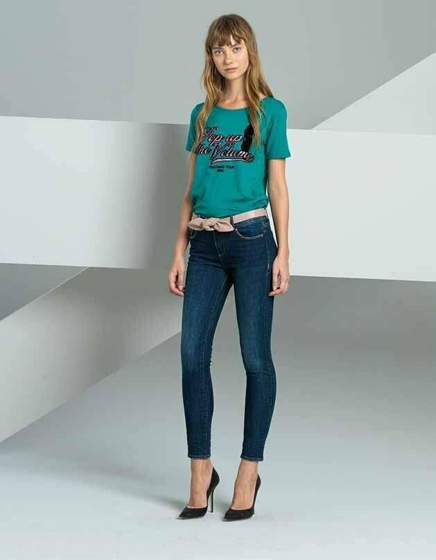 Jeans a vita alta super slim