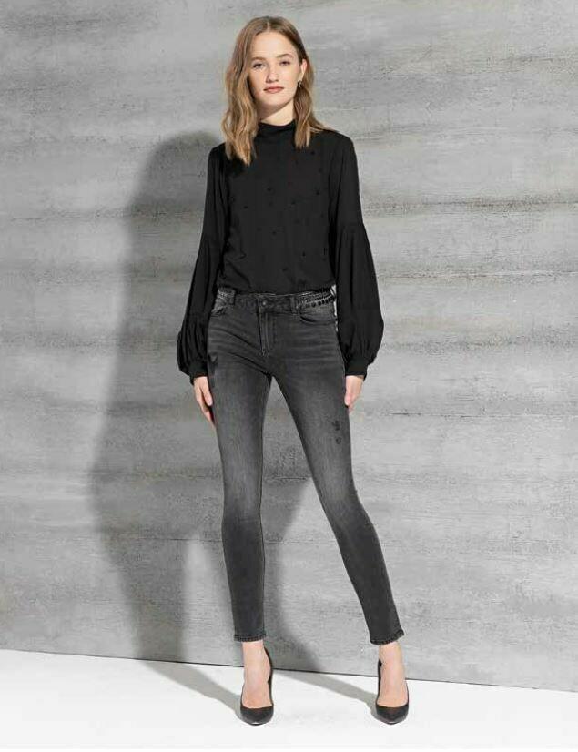 Jeans nero lavato