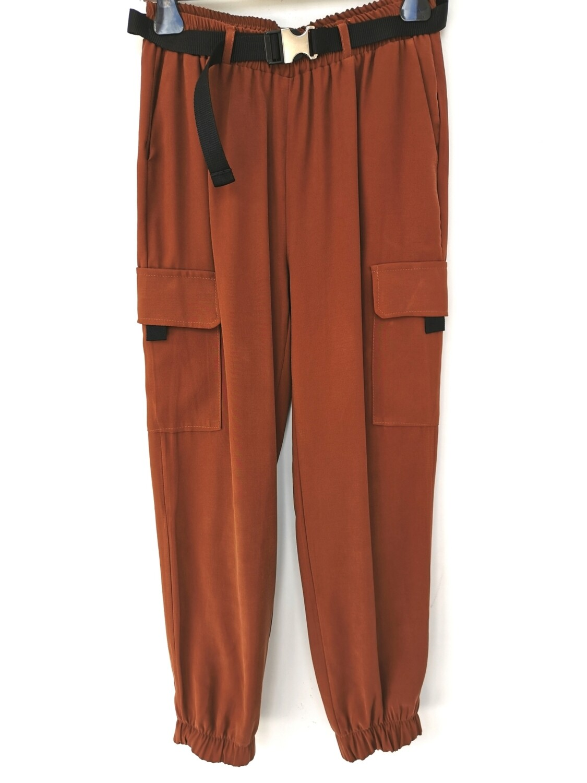 Pantalone donna tasconato