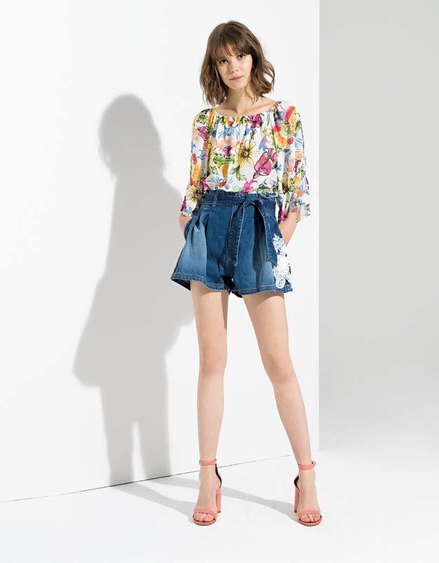 Blusa stampa floreale