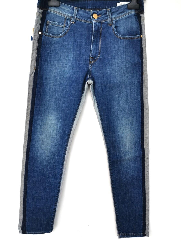 Jeans a vita alta con pois