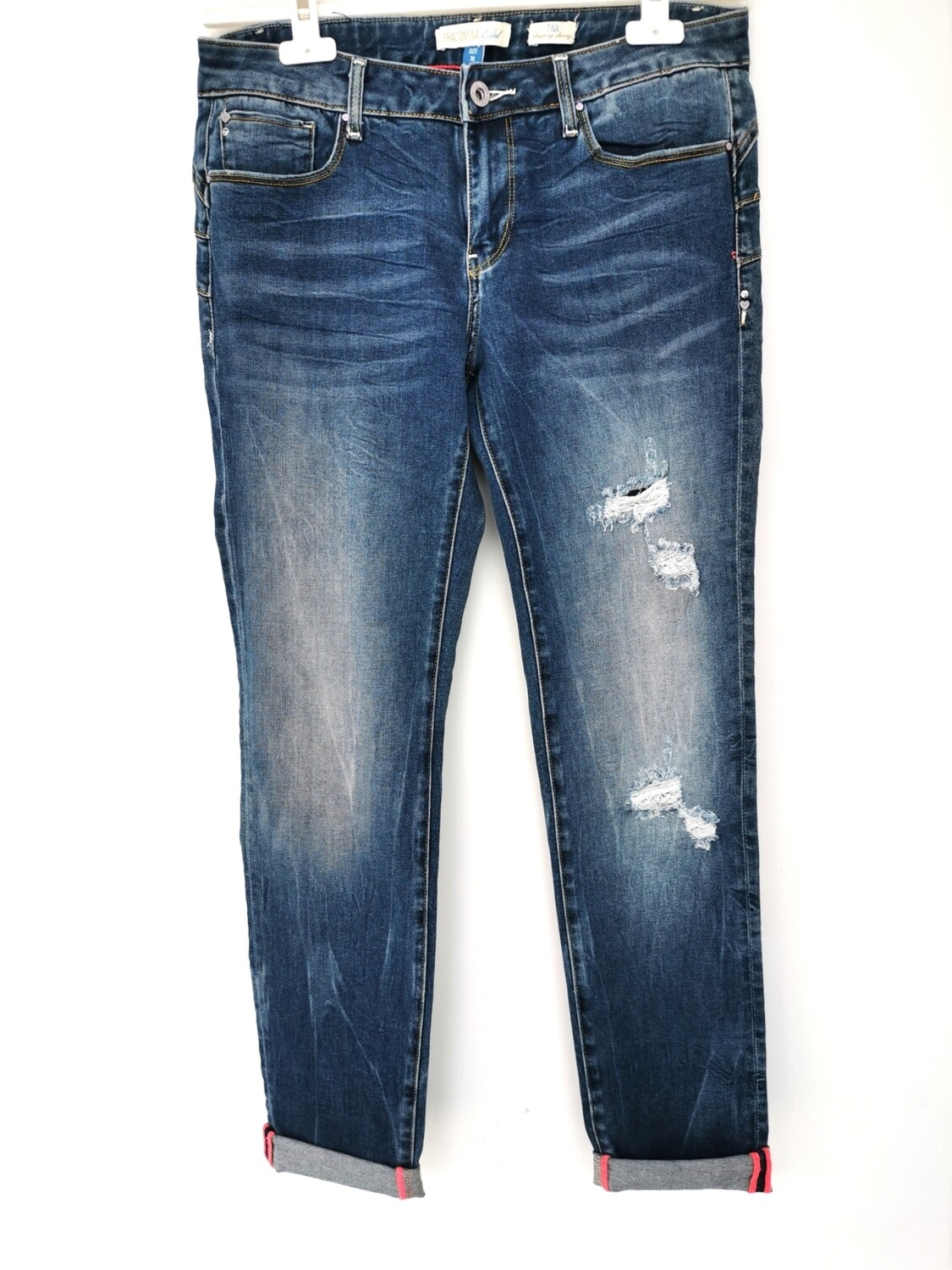 Jeans Fracomina con rotture
