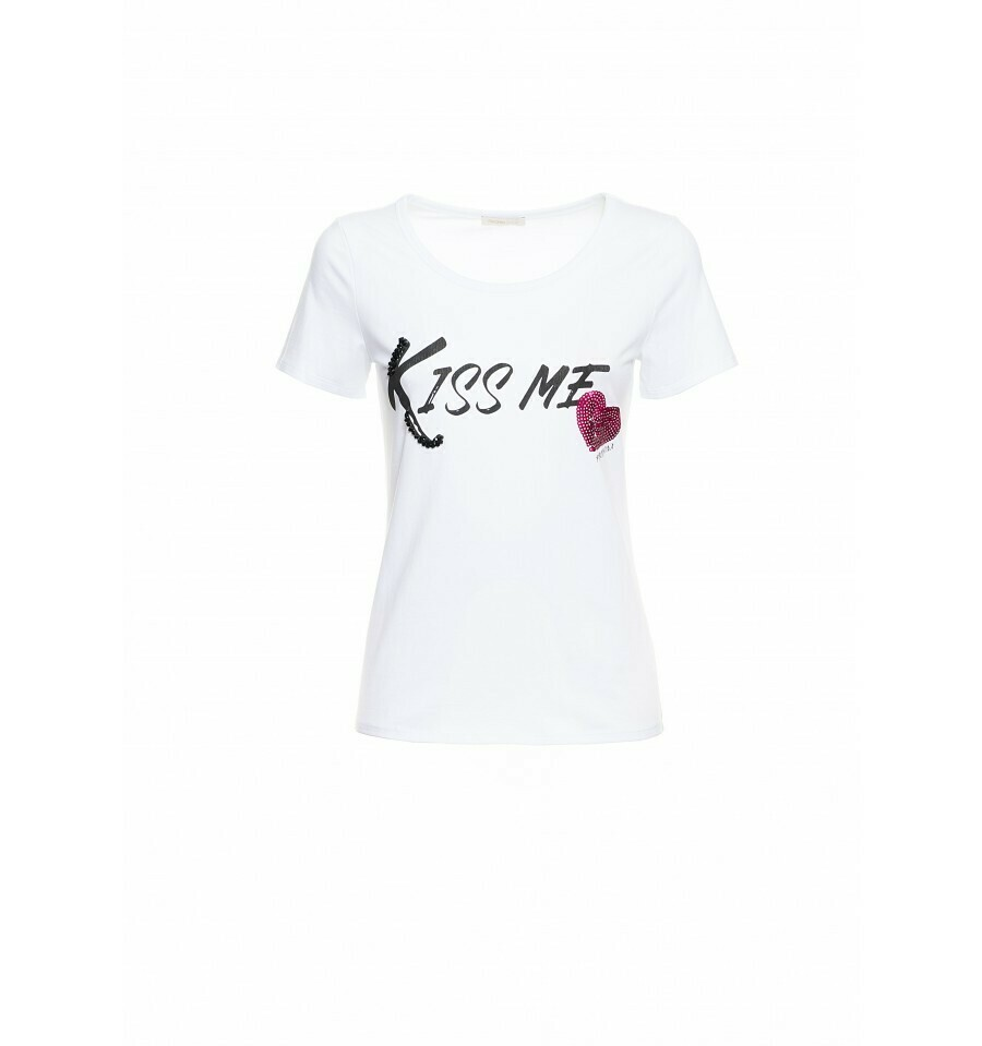 T-shirt stampa kiss me