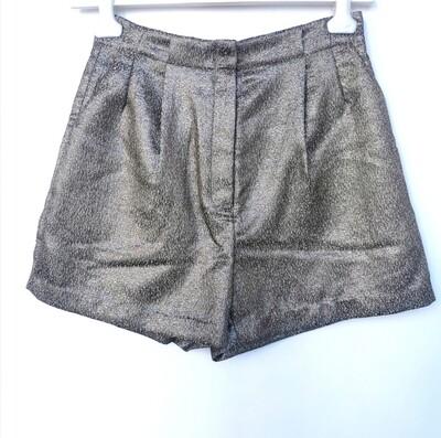 Golden jacquard shorts