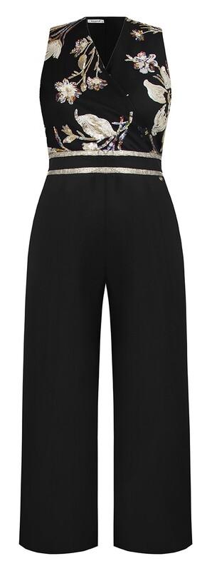 Jumpsuit with crossed neckline