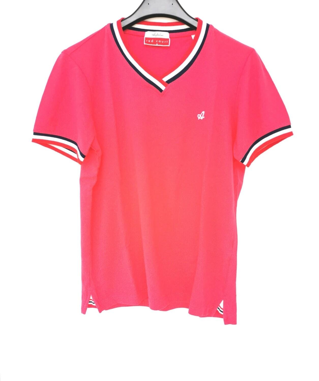 T-shirt piquet con scollo a V