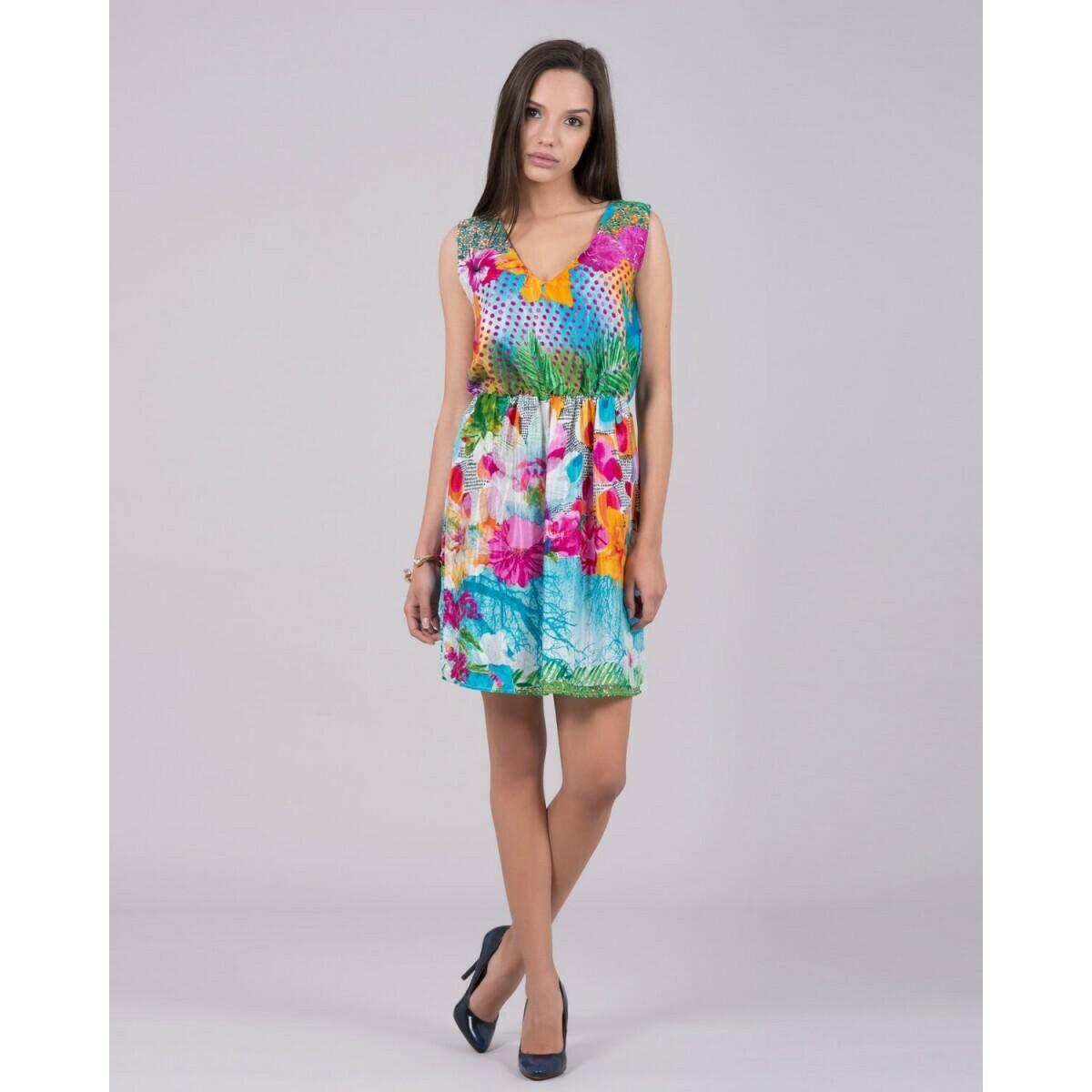 Multicolor floral dress