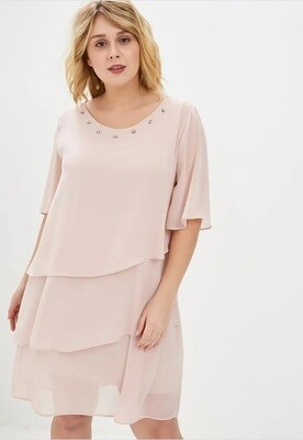 Soft dress with rhinestones