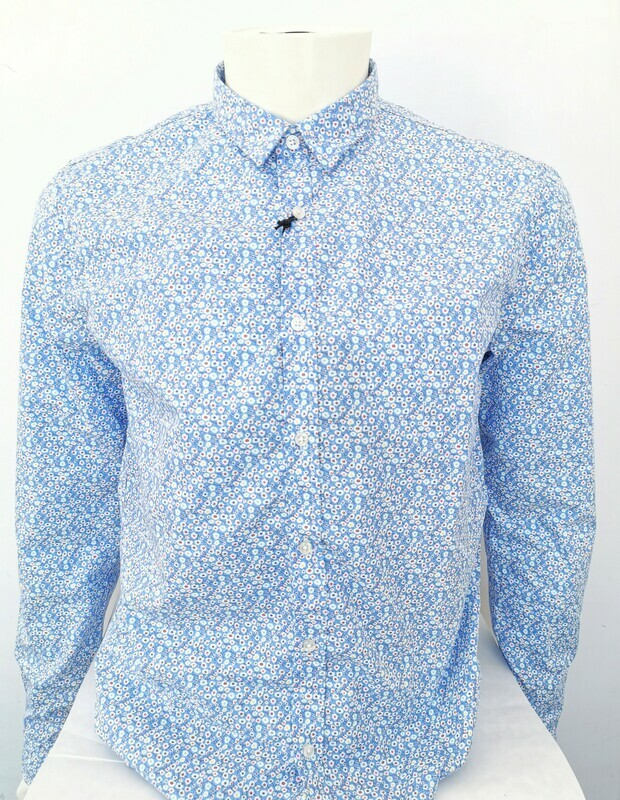 Flowers micro-pattern shirt