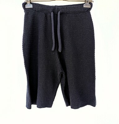 Knitted jogger shorts