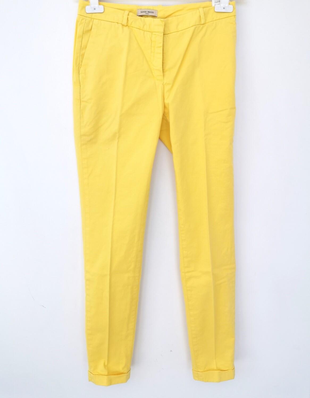 Pantalone chino gabardine con risvolto