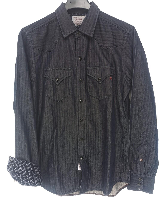 Camicia in denim rigato