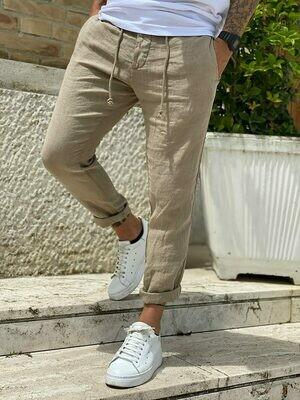Linen chino pants