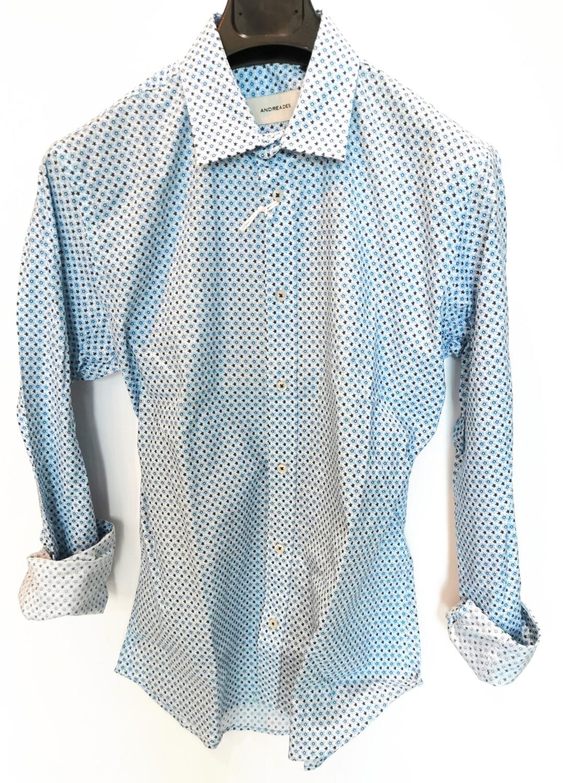 Camicia slim fit stampa fiorellino