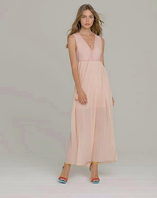 Vestito lungo plissettato