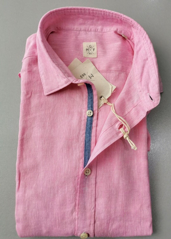 Camicia in lino slim fit