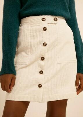 Ribbed velvet mini skirt
