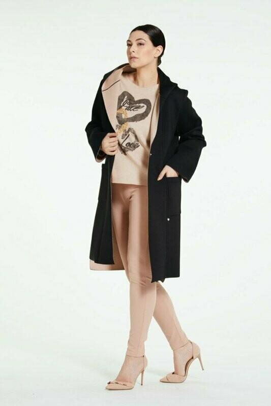 Long neoprene duster coat