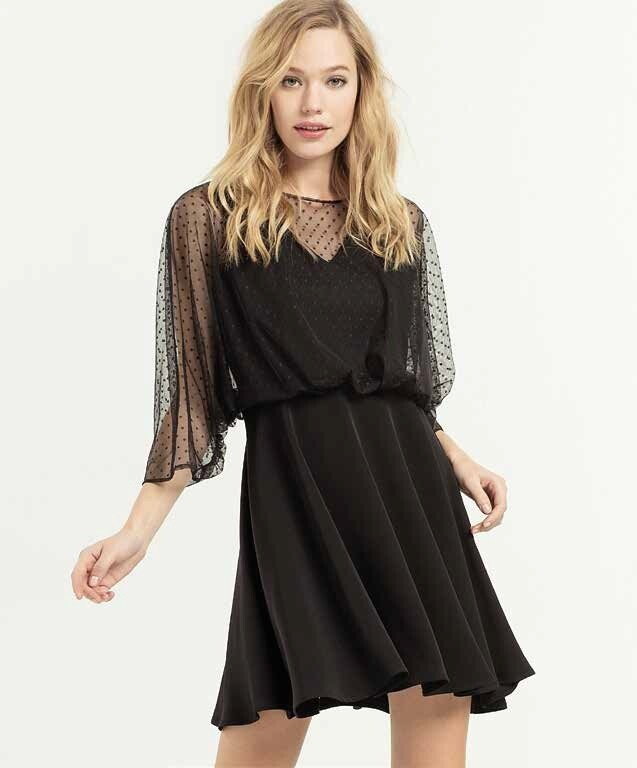 Short dress with tulle