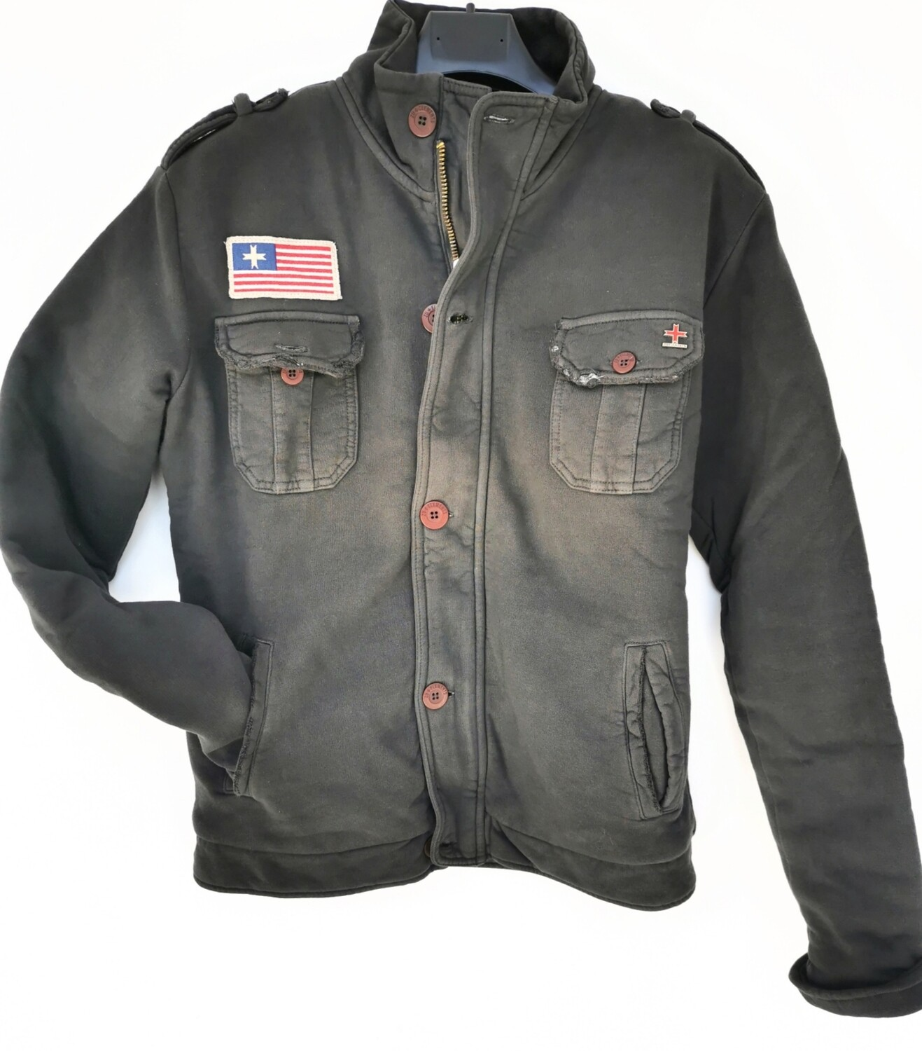 Fleece jacket with front pockets