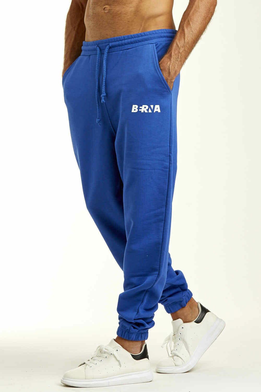 Fleece trousers with logo
