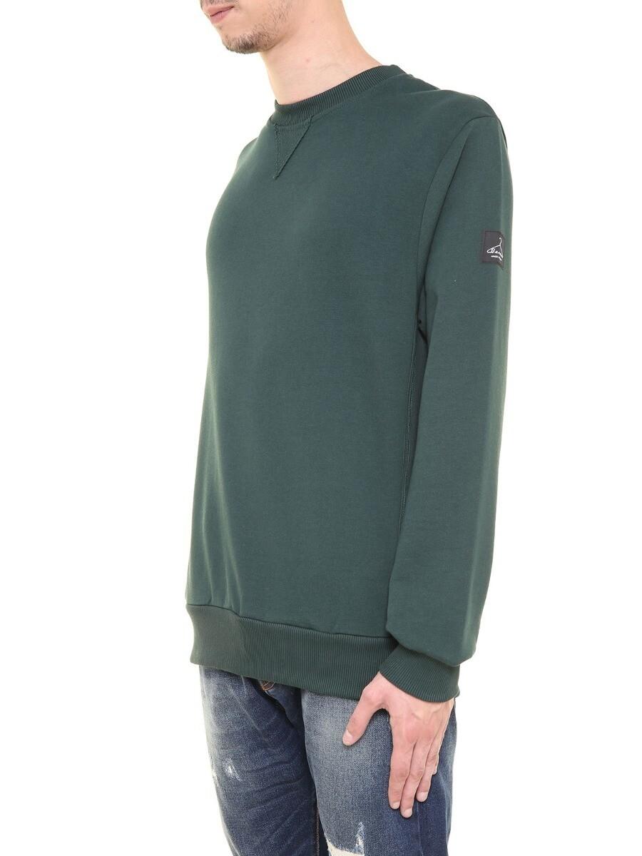 Crewneck sweatshirt with patch