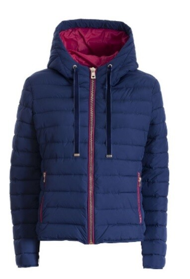 Lightweight eco down jacket with hood
