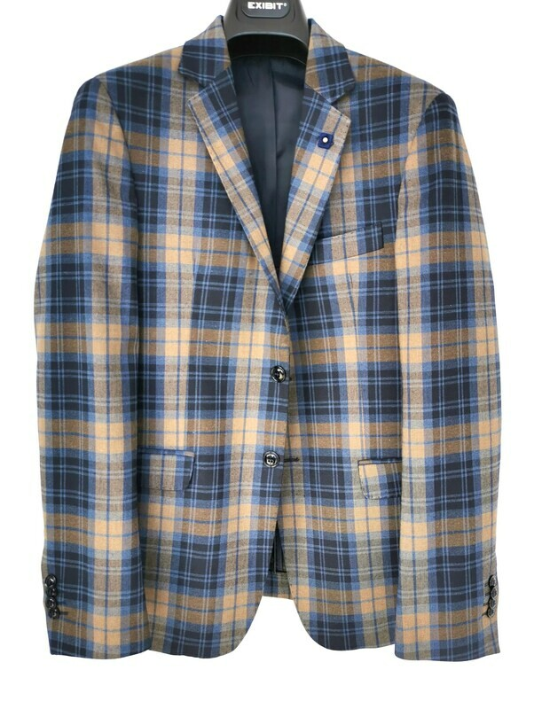 Slim fit tartan jacket