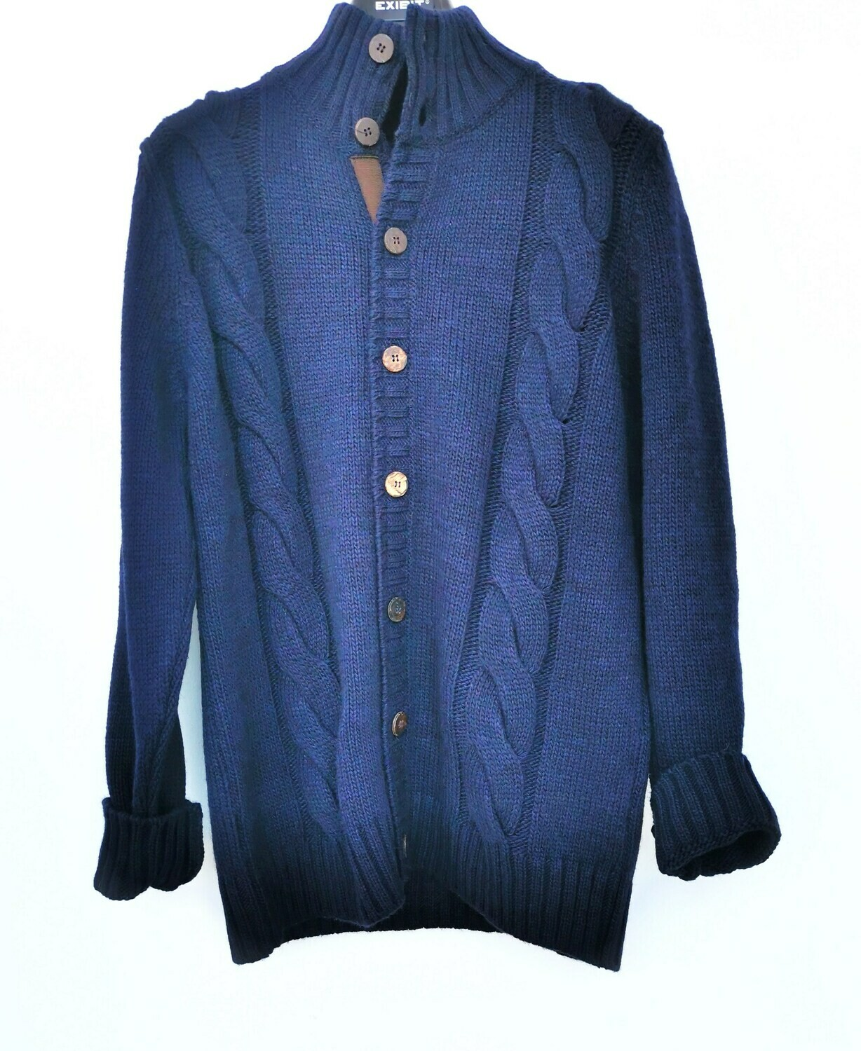 Mock cardigan with wooden buttons