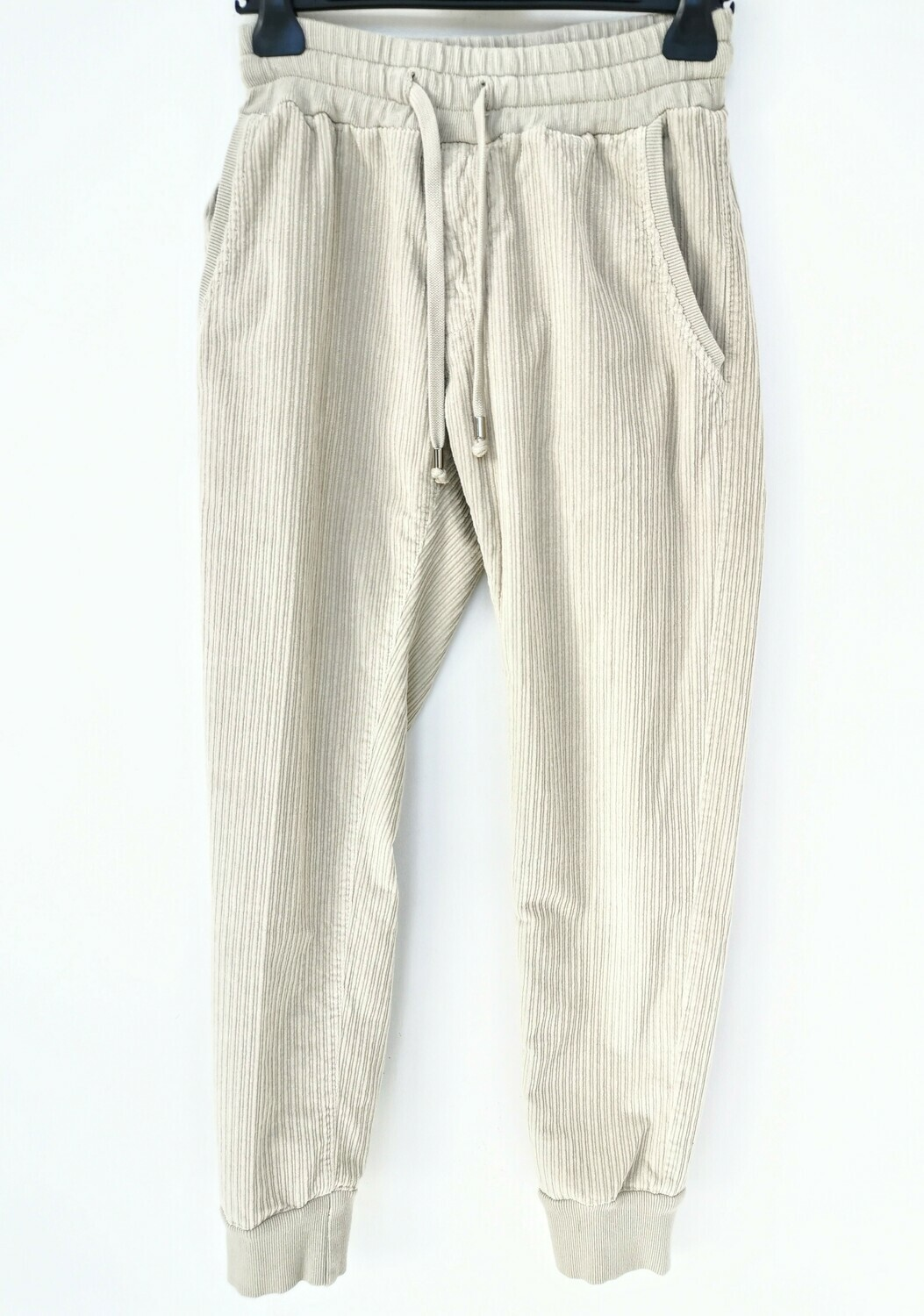 Pantalone jogger slim fit in velluto