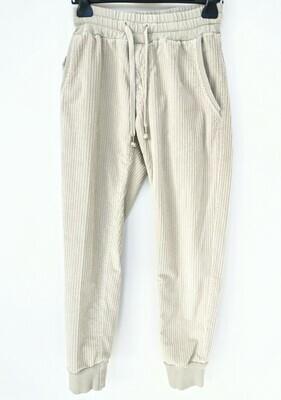 Slim fit velvet jogger pants
