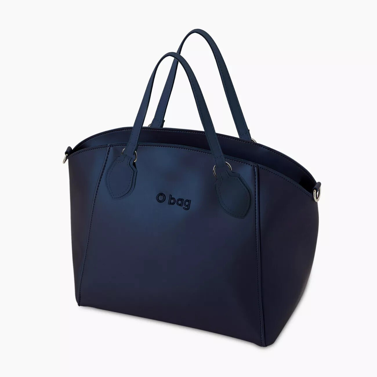 O bag soft mild blue navy metal