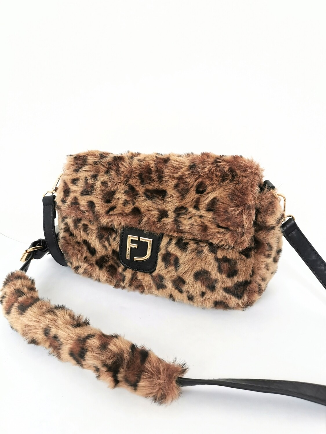 Borsa in ecopelliccia animalier