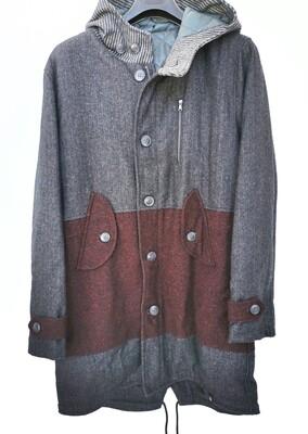 Cappotto stile parka in lana