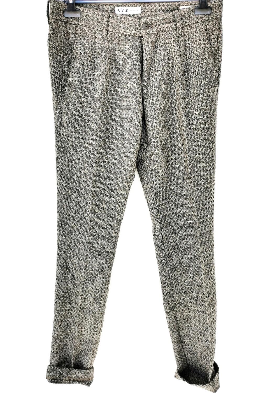 Pantalone chino slim fit in flanella