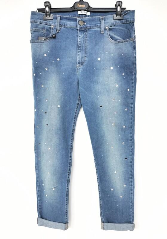 Slim fit jeans with paillettes