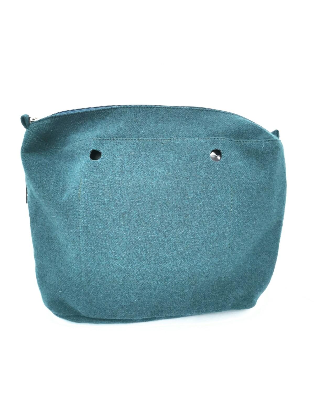 Sacca interna O bag tessuto tweed unito