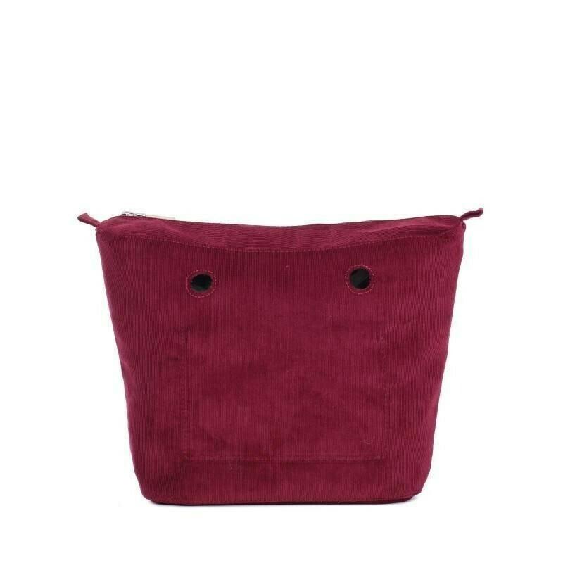 Sacca interna O bag tessuto cotton corduroy