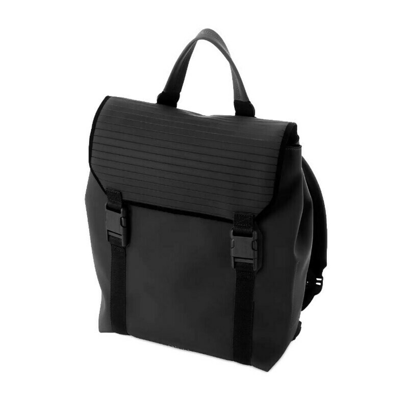 Black backpack O bag M 217 with pc holder accessory
