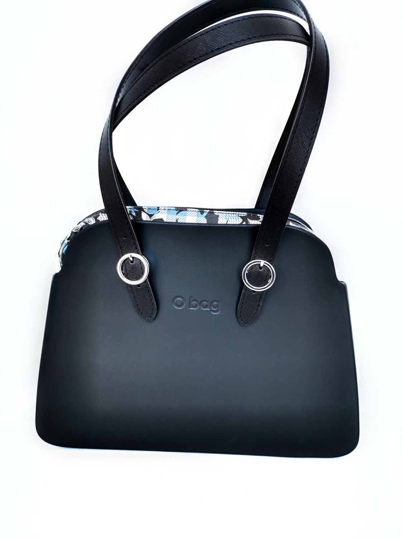 O BAG reverse check floral black