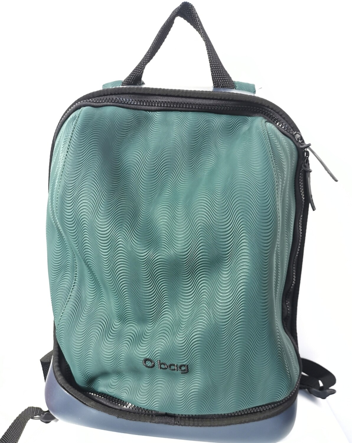 O bag backpack  in rubberized fabric