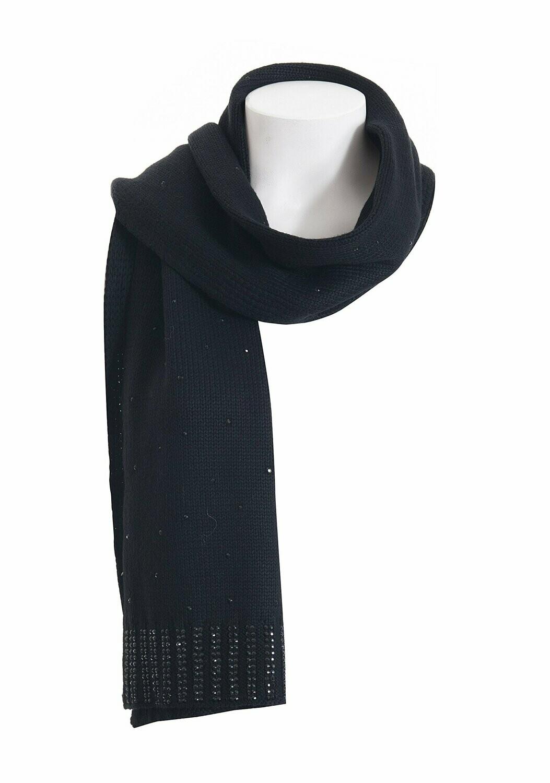Sciarpa in maglia con strass