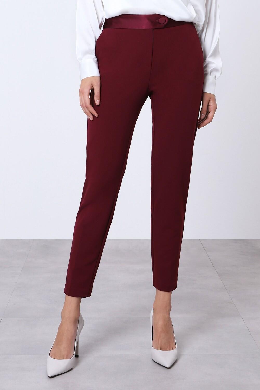 Slim pant with smoking waistband