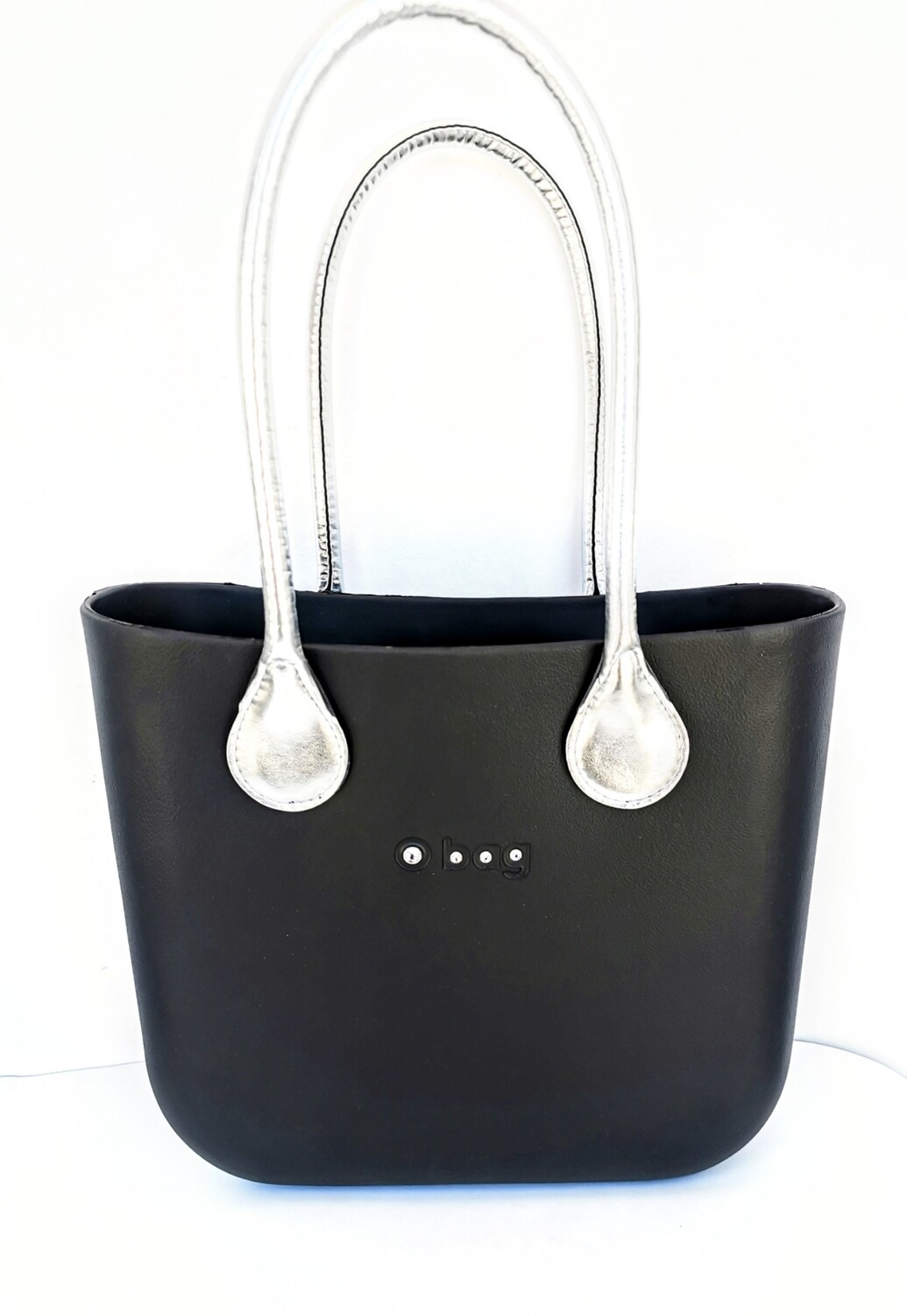 O bag mini with Swarovski crystals and long handles