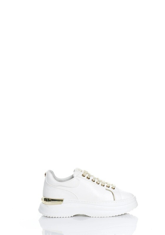 Lace-up sneakers with high sole
