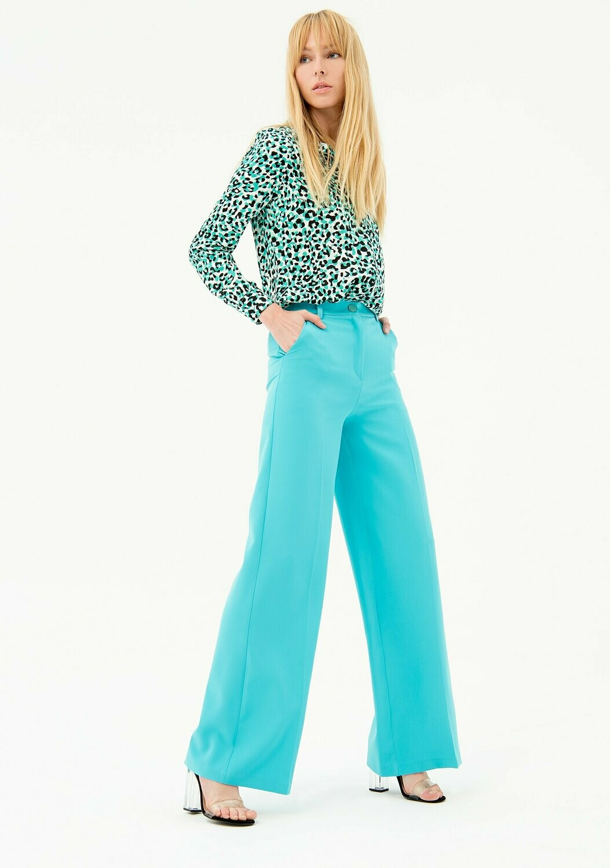 Pantalone a palazzo in tessuto stretch