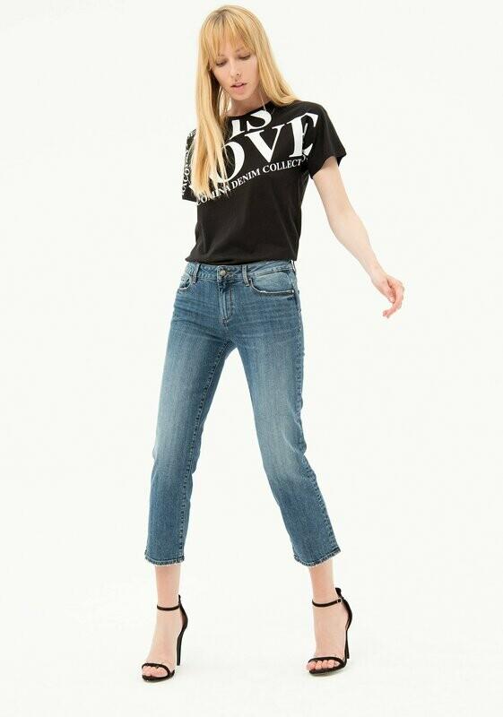 Cropped regular jeans