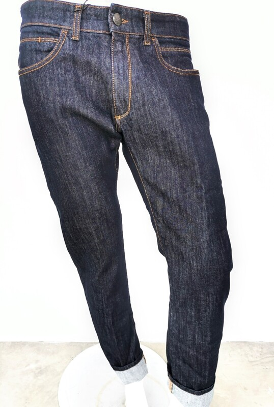 Dark wash stretch denim jeans