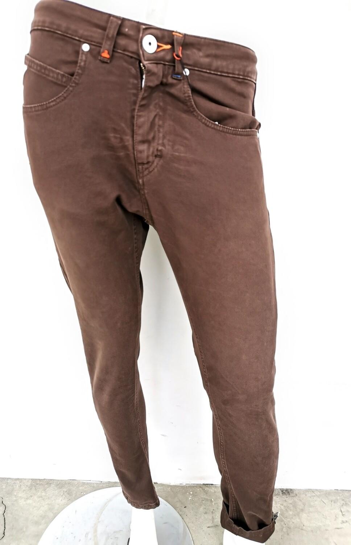Pantalone regular in denim color